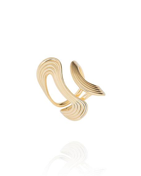 Fernando Jorge Stream Lines 18k Open Ring, Size 6.75