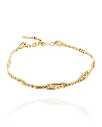Fluid 18k Diamond Bracelet