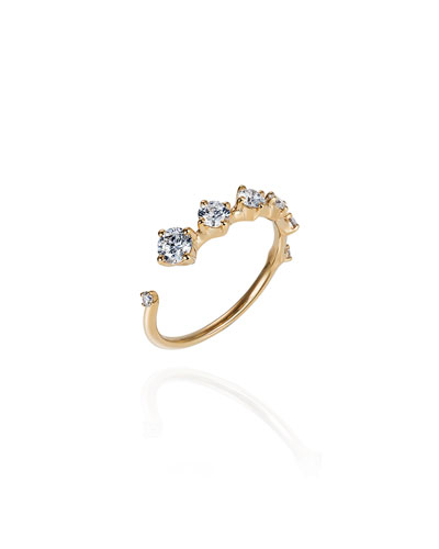 Sequence 18k Diamond Ring  Size 6.75