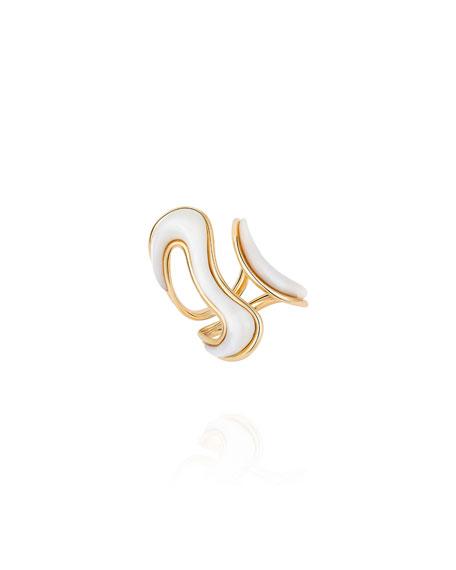 Fernando Jorge Stream Open 18k Mother-of-Pearl Ring, Size 8