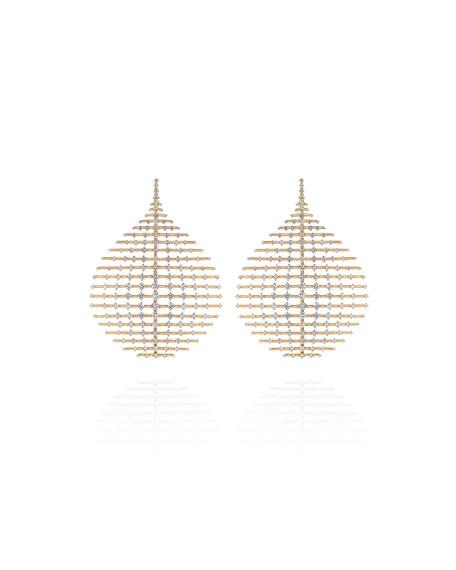 Fernando Jorge Brilliant 18k Diamond Disco Earrings