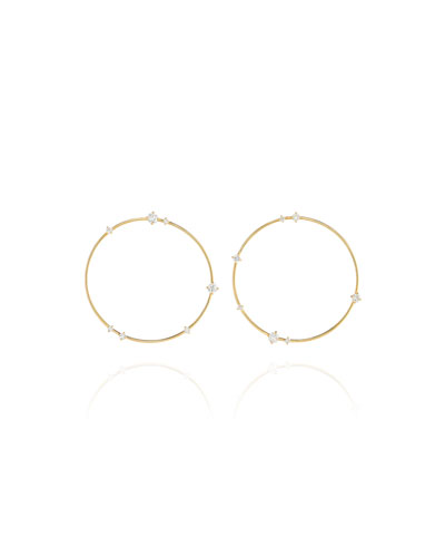 Sequence 18k Diamond Large Hoop Earrings