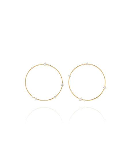 Fernando Jorge Sequence 18k Diamond Large Hoop Earrings