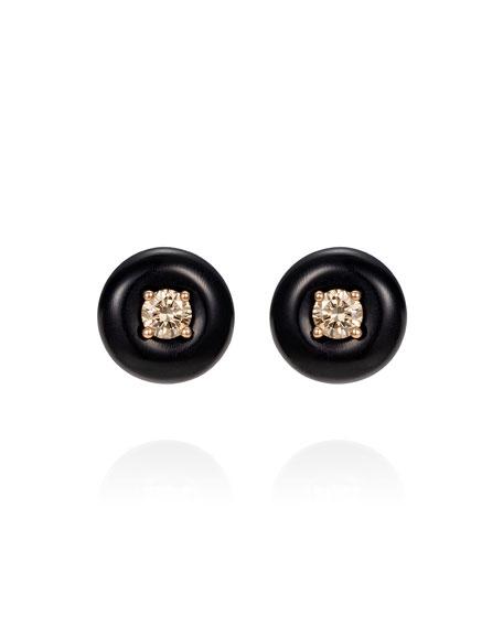 Fernando Jorge Orbit Medium 18k Diamond Stud Earrings with Horn