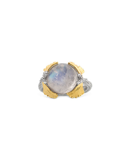 Michael Aram Butterfly Ginkgo Dome Ring with Moonstone