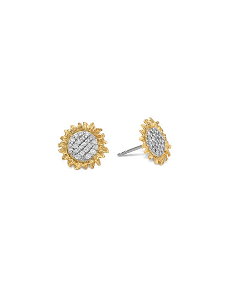 Image 2 of 2: Michael Aram Vincent Diamond Stud Earrings, 11mm