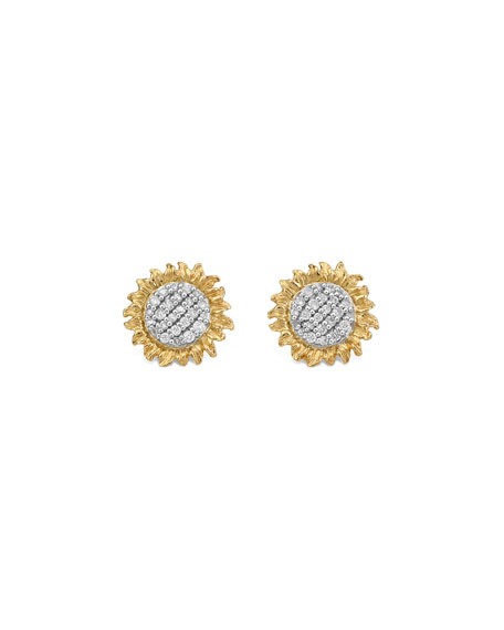 Image 1 of 2: Michael Aram Vincent Diamond Stud Earrings, 11mm