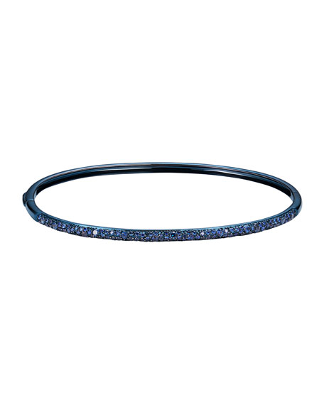 Image 1 of 1: 14k Blue Gold Blue Sapphire Bangle