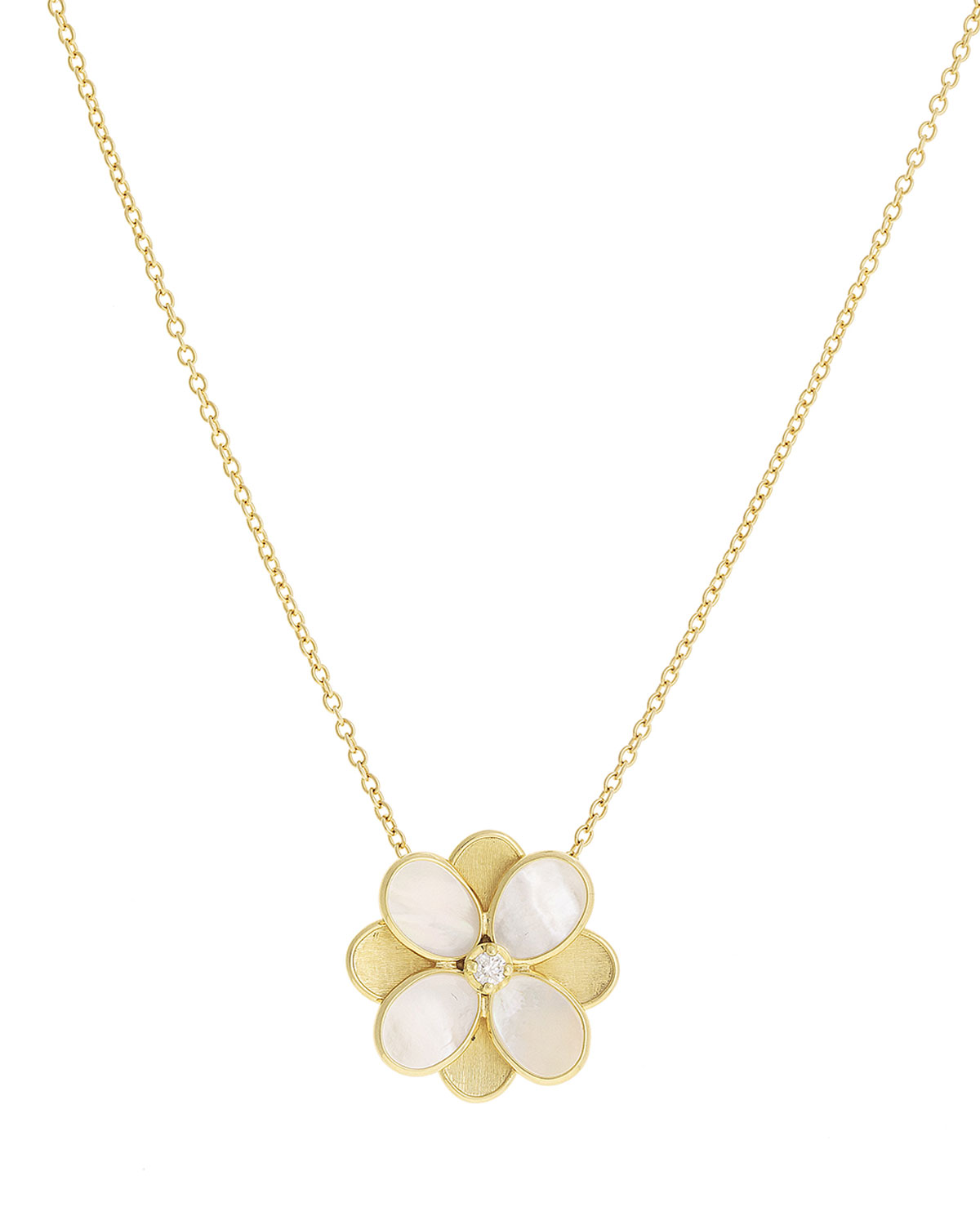 Marco Bicego Petali Mother-of-Pearl Pendant Necklace