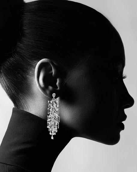 Staurino 18k White Gold Diamond Chandelier Earrings