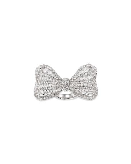 Staurino 18k White Gold Diamond Bow Ring