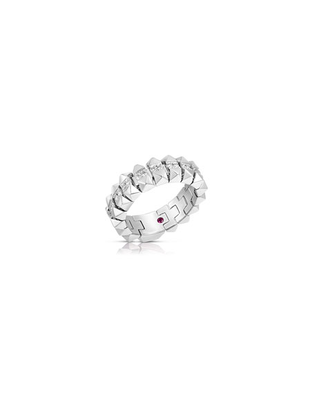 Image 2 of 2: Roberto Coin Rock and Diamonds 18k White Gold Diamond Ring, Size 7.5
