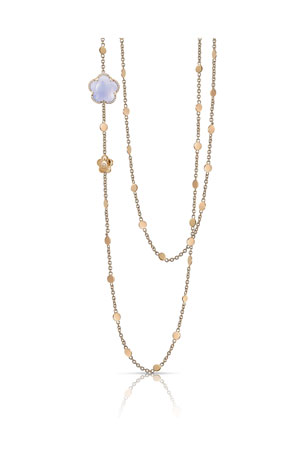 Pasquale Bruni Bon Ton 18k Blue Chalcedony Necklace with Diamonds