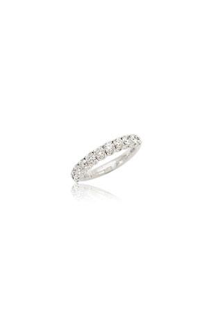 Picchiotti Xpandable 18k White Gold Half-Set Diamond Ring