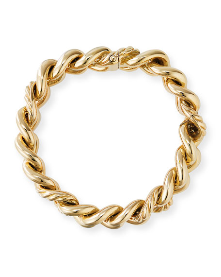 Image 2 of 2: 18k Yellow Gold Curb Chain Bracelet, Size L