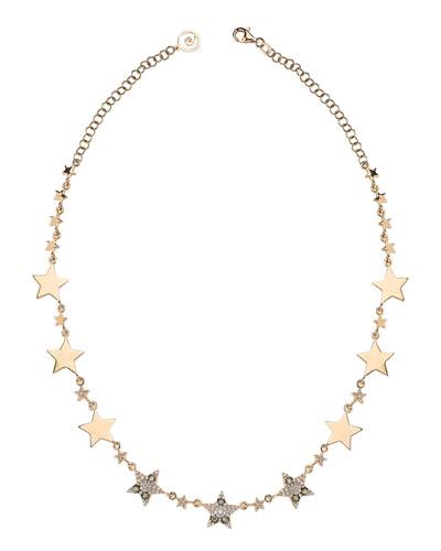 Star Light 14k Diamond Pave Star Necklace