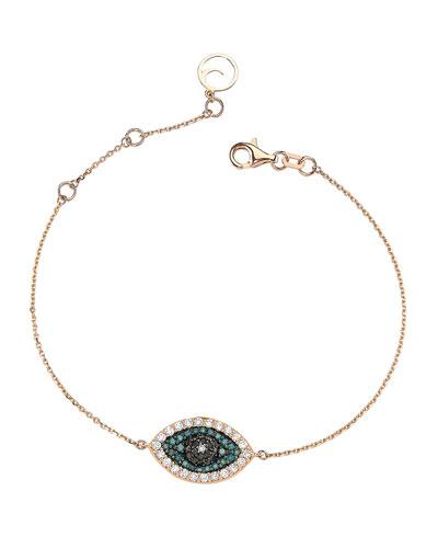 Eye Light Multi-Diamond Station Bracelet