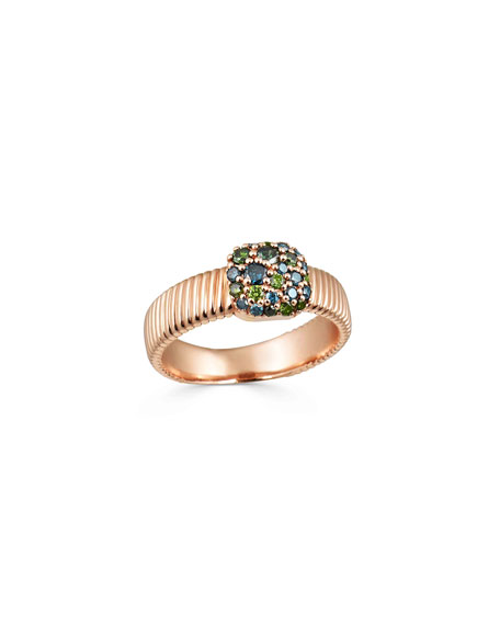 Image 2 of 2: Stevie Wren Rounded Square Diamond Cigar Band Ring, Size 7