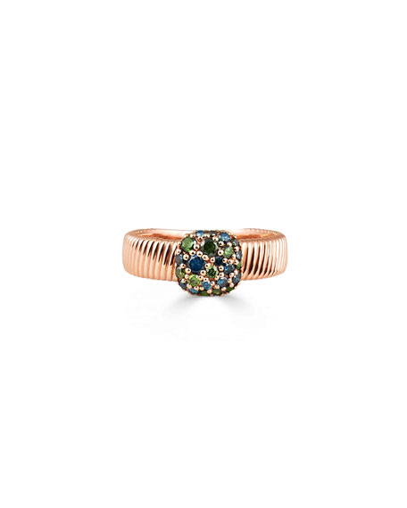 Image 1 of 2: Stevie Wren Rounded Square Diamond Cigar Band Ring, Size 7