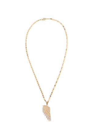 Lana 14K Flawless Wing Amulet Necklace