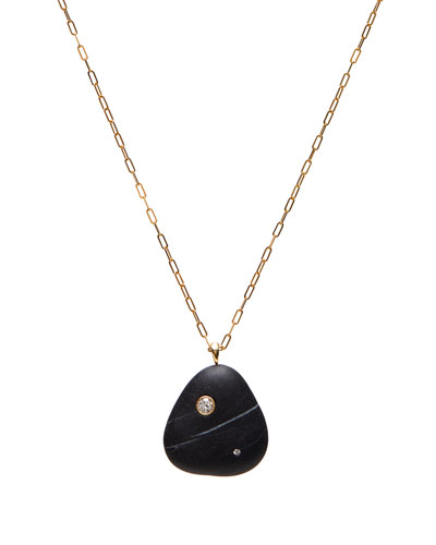 18k Gold Pear W/Dia Necklace - One of a Kind  30