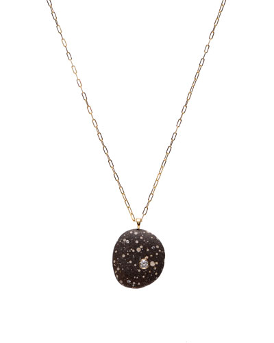 18k Gold Oval W/Dia Necklace - One of a Kind  30