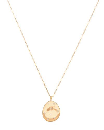 18k Gold Oval Z12 Necklace - One of a Kind  18