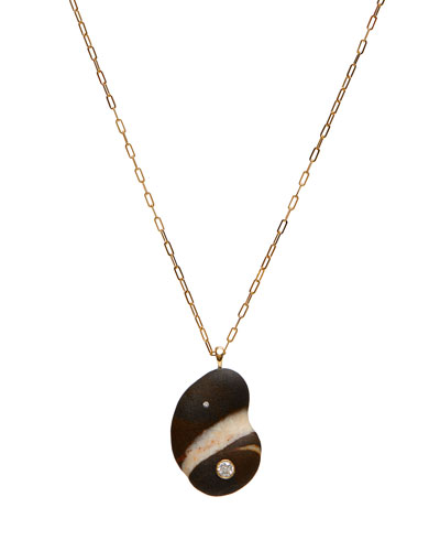 18k Gold Crescent Dia Necklace - One of a Kind  30