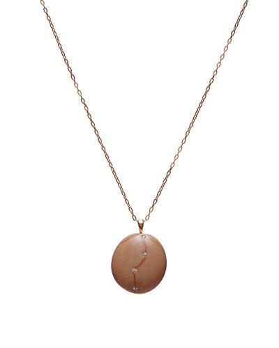 18k Gold Oval Caramel Necklace - One of a Kind  18