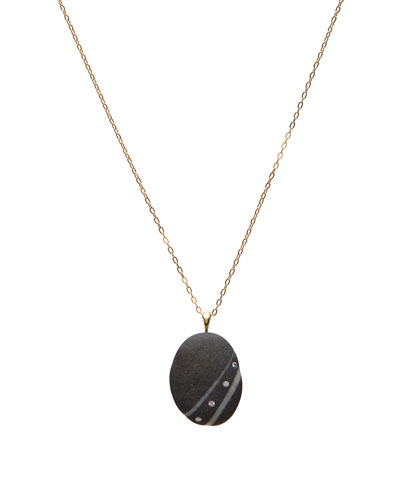 18k Gold Oval Intent Necklace - One of a Kind  18L