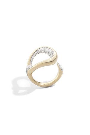 Pomellato Fantina 18k Rose Gold Diamond Ring, Size 53