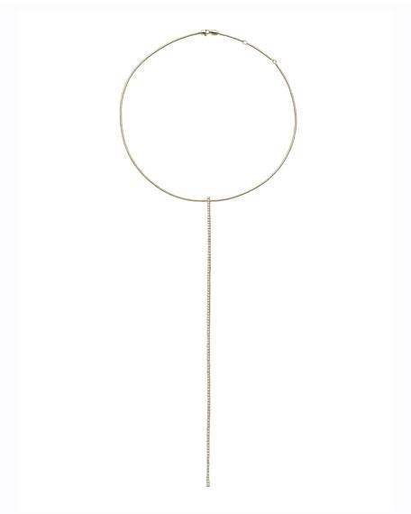 Mattia Cielo Rugiada 18k Gold Long Diamond Y-Necklace