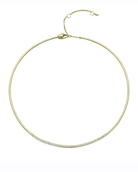 Mattia Cielo Rugiada 18k Diamond Collar Necklace, 0.68tcw