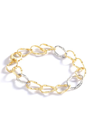 Marco Bicego Marrakech Onde Three Diamond Link Bracelet
