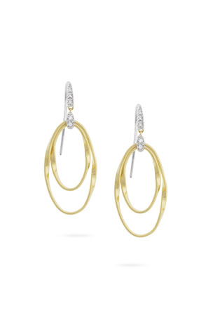 Marco Bicego Marrakech Onde Double Concentric Hook Earrings