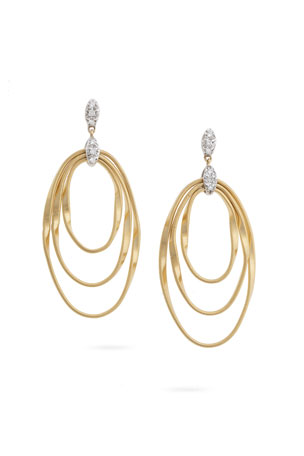 Marco Bicego Marrakech Onde Triple Concentric Post Earrings
