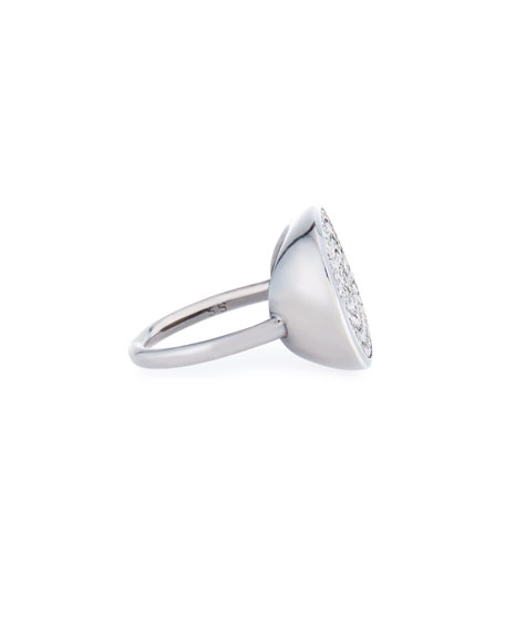 Image 2 of 2: Sheryl Lowe Pave Diamond Oval Ring, Size 8.5