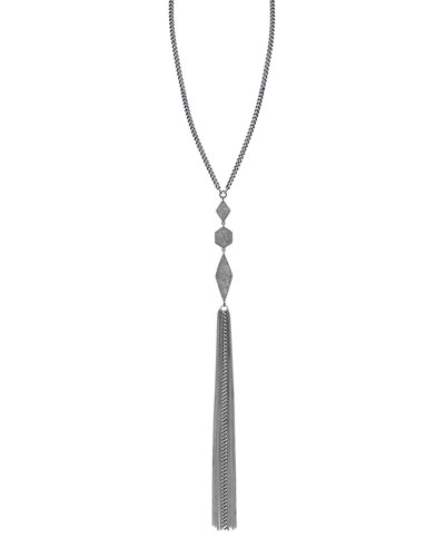 Curb Chain Necklace with Diamond Pendants