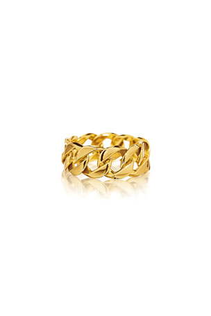 Verdura 18k Yellow Gold Curb-Link Ring