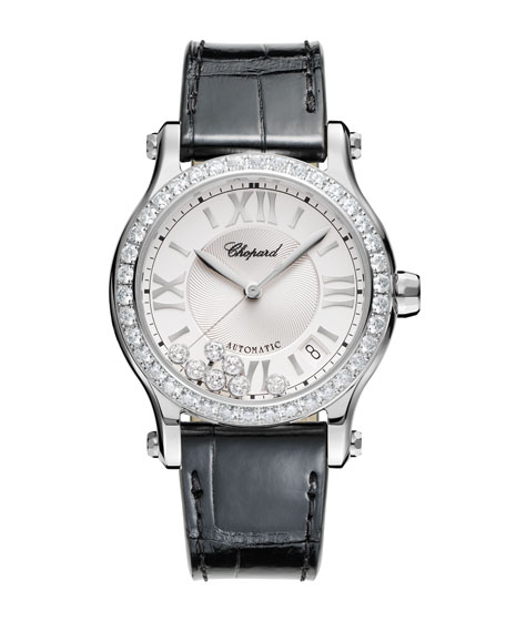 36 mm Happy Sport Watch with Diamonds