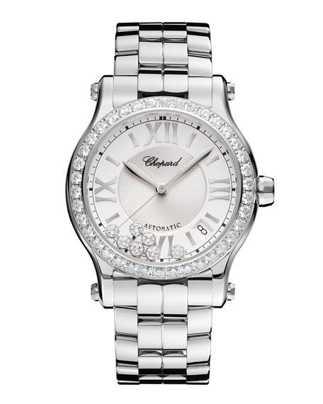 36mm Happy Sport Automatic Watch with Diamonds