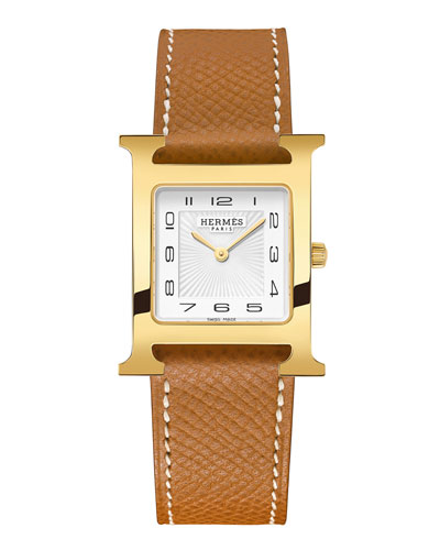 Heure HMM Watch with Gold Leather Strap