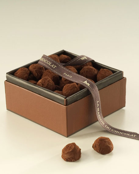 la maison du chocolat plain truffles. Black Bedroom Furniture Sets. Home Design Ideas