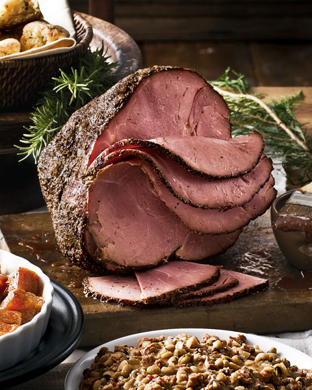 Hickory-Smoked Peppered Half Ham, For 10-12 People