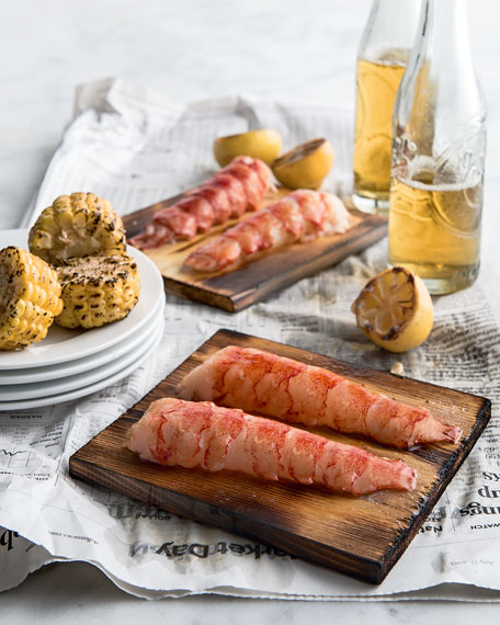 Lobster Tails on Plank