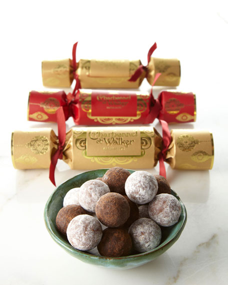Six Christmas Poppers with Truffles