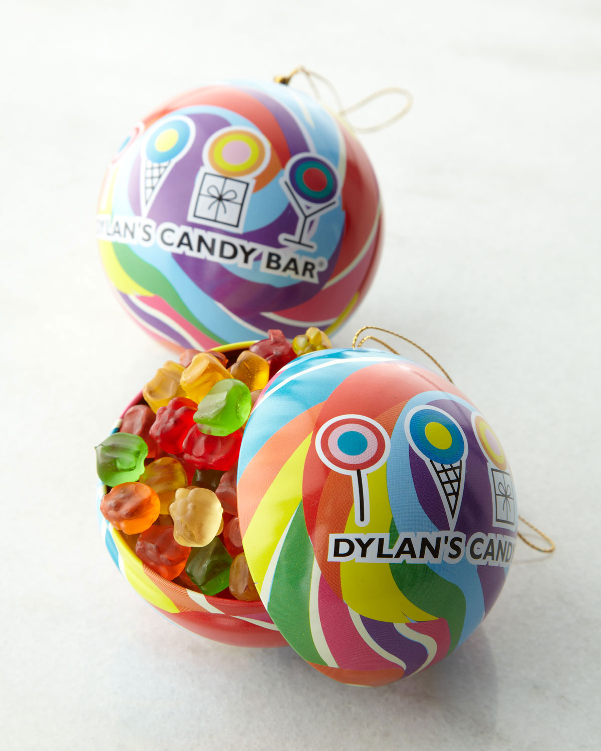 Dylan's Candy Bar Four Holiday Ornaments