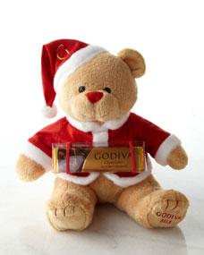 Godiva Plush Holiday Bear