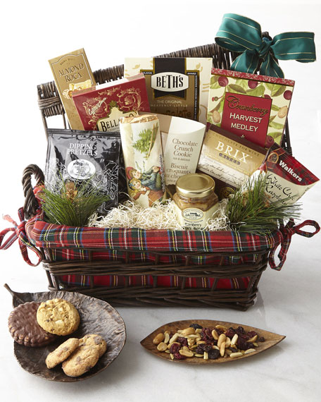 Holiday Plaid Gift Basket