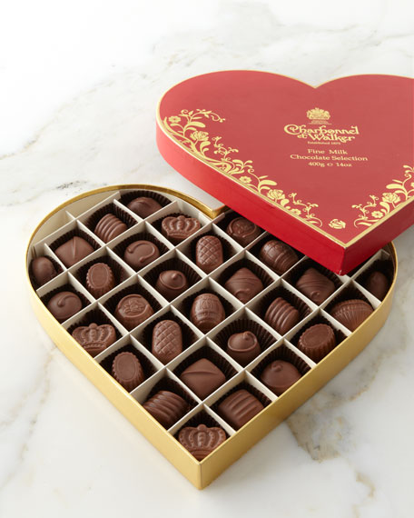 Milk Chocolate Vintage Red Heart